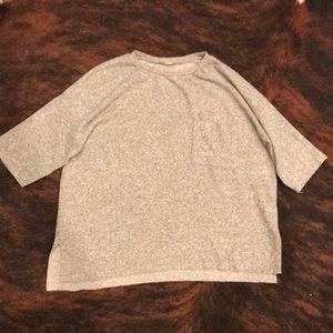 Zara Sweater Tee with Pearl Pocket